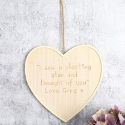Large Personalised Wooden Hanging Heart