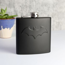 Batman Hip Flask in Matt Black