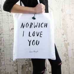 Norwich I Love You Tote Bag