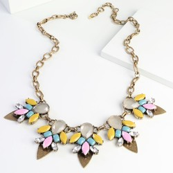 Vibrant Yellow & Gold Statement Necklace