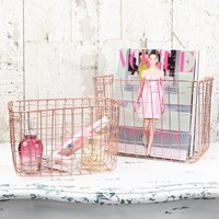 Sass & Belle Set of 2 Wire Mesh Copper Baskets