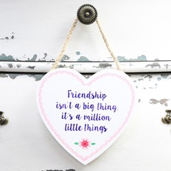 Sass & Belle 'Friendship' Hanging Wooden Heart