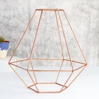 Sass & Belle Geometric Copper Lamp Shade
