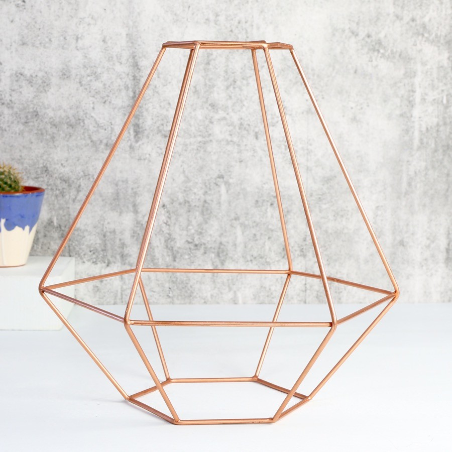 Geometric Copper Lamp Shade Lighting Lisa Angel