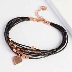Personalised Multi-Strand Dainty Heart Bracelet