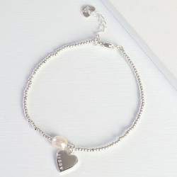 Personalised Dainty Seed Bead & Pearl Bracelet