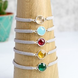 Round Birthstone Friendship Bracelet