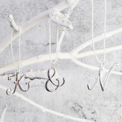 Silver Hanging Letter Charm Decoration
