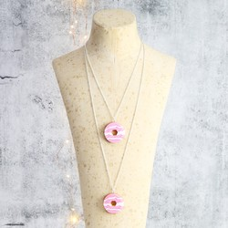 Acrylic Party Ring Necklace