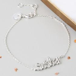 Silver 'Sister' Bracelet