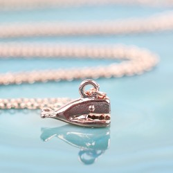 Tiny Rose Gold Whale Necklace