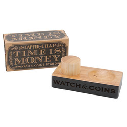 Dapper Chap 'Watch & Coins' Etched Wooden Stand