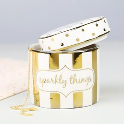 Absolutely Fabulous 'Sparkly Things' Ceramic Trinket Box