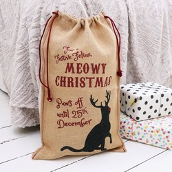 'Meowy Christmas' Christmas Sack