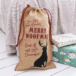 'Merry Woofmas' Christmas Sack