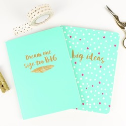 Oh So Pretty Set of Two A6 Notebooks