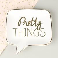 'Pretty Things' Ceramic Speech Bubble Ring Dish
