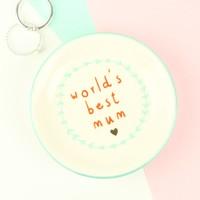 World's Best Mum Ring Dish