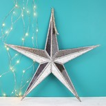 Large Mirrored Star Hanging Ornament