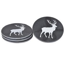 Set of Four Slate Reindeer Coasters