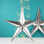 Small Mirrored Star Hanging Ornament