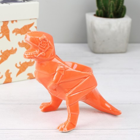 House of Disaster Orange Origami T-Rex Dinosaur Egg Cup
