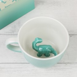 House of Disaster Turquoise Ombre Origami Dinosaur Mug