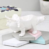 House of Disaster White Origami Triceratops Dinosaur Egg Cup