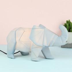 Disaster Designs Nordikka Grey Origami Elephant Lamp