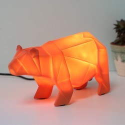 Disaster Designs Nordikka Orange Origami Bear Night Light