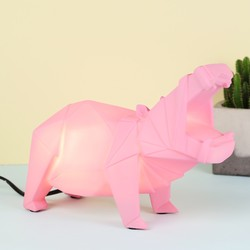 Disaster Designs Nordikka Pink Origami Hippo Night Lamp