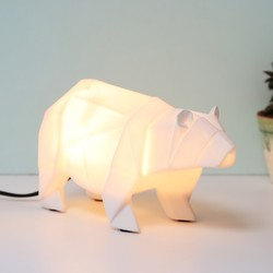 Disaster Designs Nordikka White Origami Bear Night Light