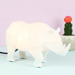 Disaster Designs Nordikka White Origami Rhino Night Light