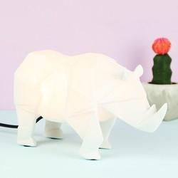 Disaster Designs Nordikka White Origami Rhino Lamp