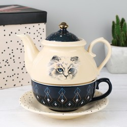 House of Disaster Meow 'Tea For One' Teapot Set