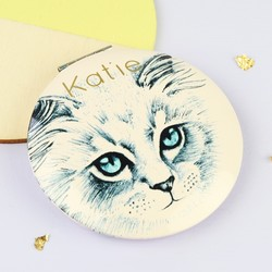 Personalised House of Disaster Meow Compact Mirror