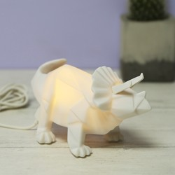 House of Disaster Mini LED Triceratops Dinosaur Lamp