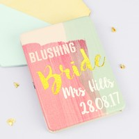 Personalised House of Disaster Ta-Daa 'Blushing Bride' Compact Mirror