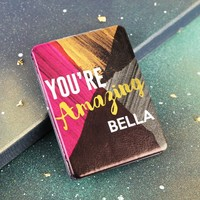 Personalised House of Disaster Ta-Daa 'You're Amazing' Compact Mirror