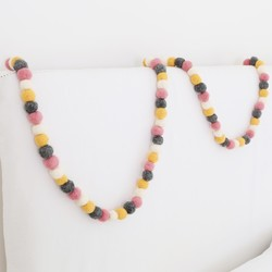 Colourful Felt Pom Pom Garland