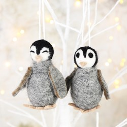 Pair of Penguin Hanging Decorations