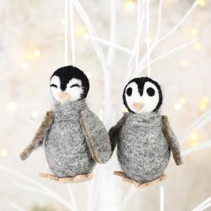 Pair of Penguin Hanging Decorations