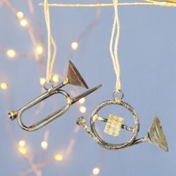 Iron Instrument Hanging Christmas Decoration