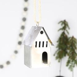 Iron House Hanging Christmas Decoration