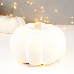 Medium White Pumpkin Ornament