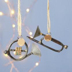 Personalised Iron Instrument Hanging Christmas Decoration
