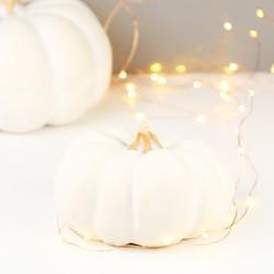 Small White Pumpkin Ornament
