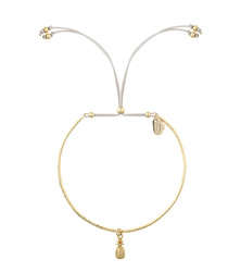 Estella Bartlett Gold Celine Bangle with Mini Pineapple