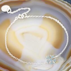 Shiny Sterling Silver Snowflake Bracelet