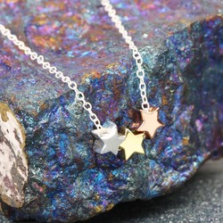 Sterling Silver Mixed Metal Little Star Necklace